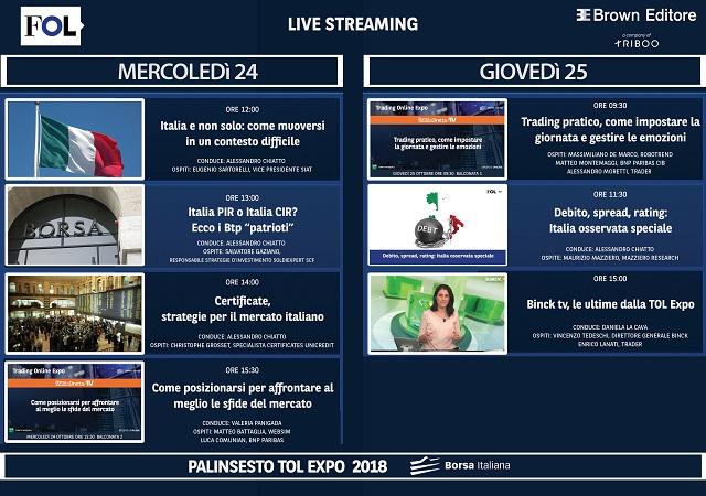 Calendario Dividendi 2020 Borsa Italiana.Fol Alla Tol Seguici Live Da Borsa Italiana Finanzaonline