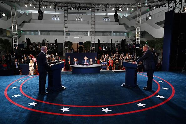 Primo dibattito televisivo tra Donald Trump e Joe Biden in vista delle elezioni presidenziali del prossimo 3 novembre