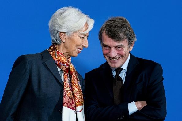 La numero uno della Bce Christine Lagarde rimette in riga Sassoli. Trattati Ue vietano cancellazione debiti