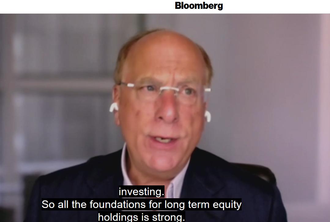 Larry Fink, AD di BlackRock: tutte le fondamenta per un investimento di lungo termine nell'azionario sono solide