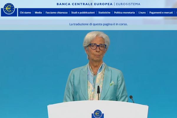 La presidente della Bce Christine Lagarde annuncia cambiamento forward guidance dopo nuova strategia politica monetaria