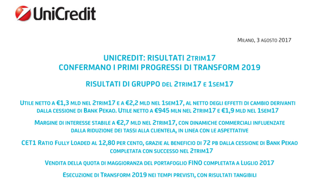 f0bd3c2a41 Unicredit: solo news n. 3 - Pagina 146